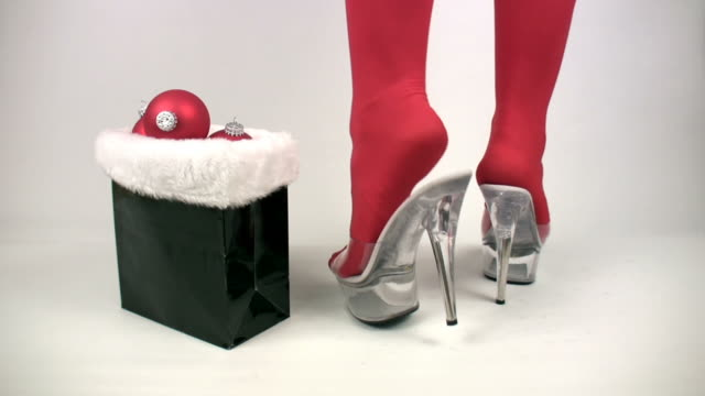 sexy santa in high heels - fetishism stock videos & royalty-free footage