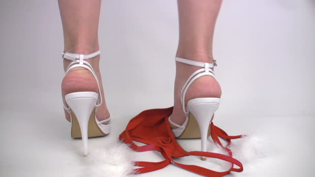 sexy santa woman in high heels slipping thong - fetishism stock videos & royalty-free footage