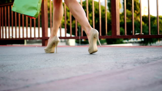 sexy walk on high heels - human foot stock videos and b-roll footage