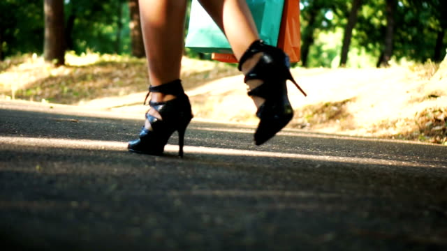 sexy walk on high heels - fashionable stock videos & royalty-free footage