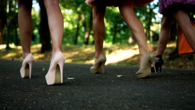 sexy walk on high heels - femininity stock videos & royalty-free footage