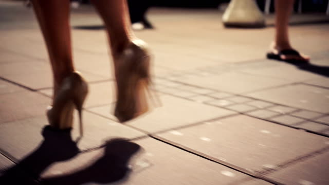 sexy walk on high heels - elegance stock videos & royalty-free footage
