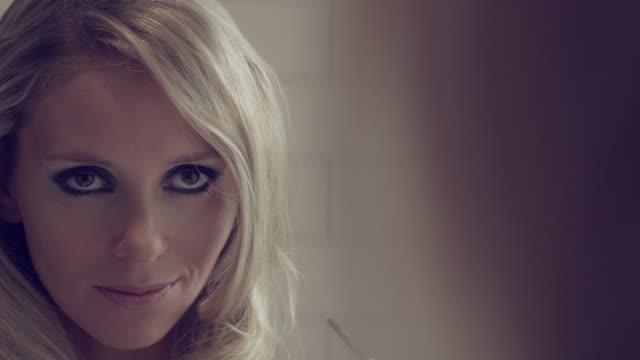 sexy woman in bathroom - blonde hair stock videos & royalty-free footage