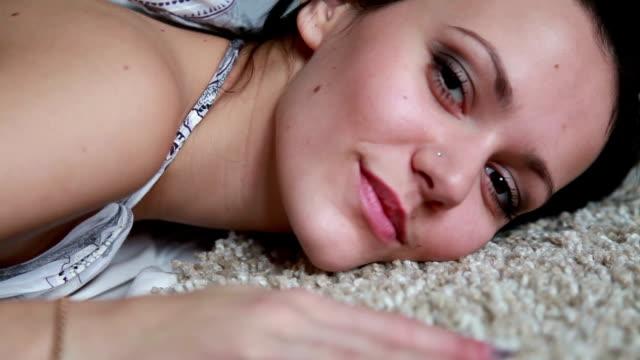 sexy woman on white carpet - black hair stock videos & royalty-free footage