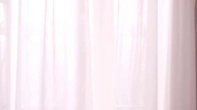 HD: Sexy Donna cammina attraverso tende