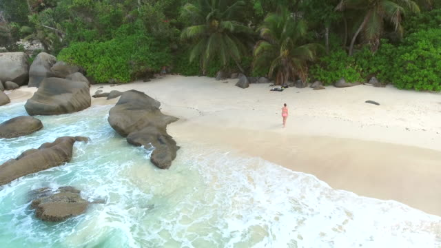 seychelles, mahé island, drone view, aerial view - seychelles stock videos & royalty-free footage
