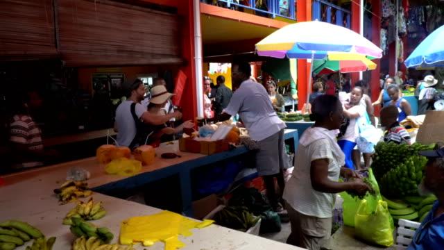 seychelles- mahe island- victoria's market - seychelles stock videos & royalty-free footage