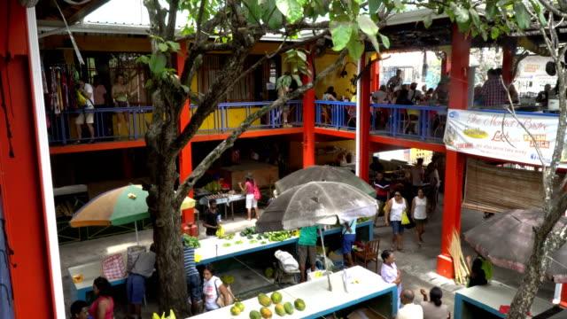 vídeos y material grabado en eventos de stock de seychelles- mahe island- victoria's market - seychelles