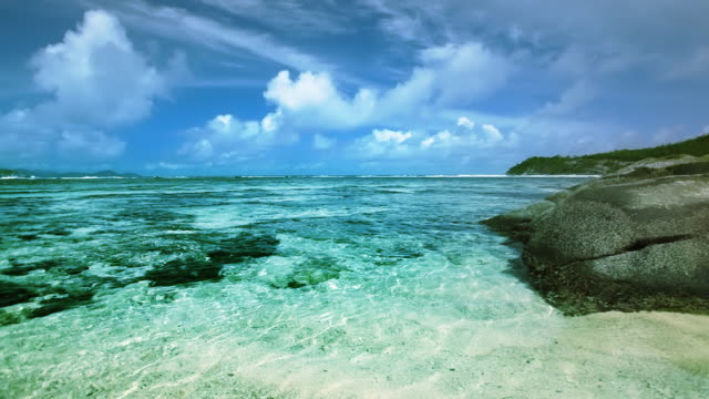 seychelles seascape - rock stock videos & royalty-free footage