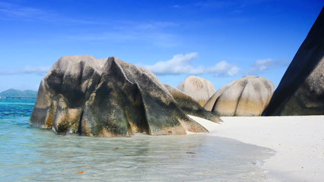 seychelles seascape - igneous stock videos & royalty-free footage