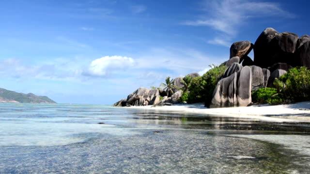 seychelles seascape - seychelles stock videos & royalty-free footage