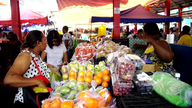 seychelles- victoria market 3 - seychelles stock videos & royalty-free footage