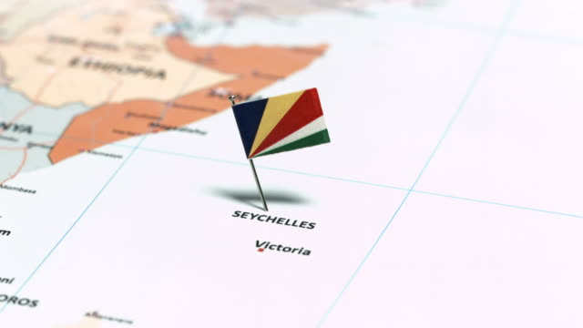seychelles with national flag - suez canal stock videos & royalty-free footage