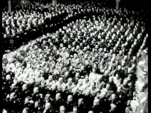 stockvideo's en b-roll-footage met seyss-inquart gives a speech on the occasion of the ten year anniversary of hitler's assumption of power. after the speech the people present sing... - hitler speech