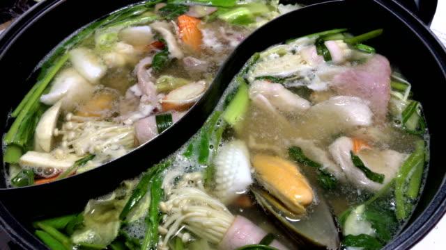 Shabu Shabu or Sukiyaki is a Japanese style and Korean style, 4K.