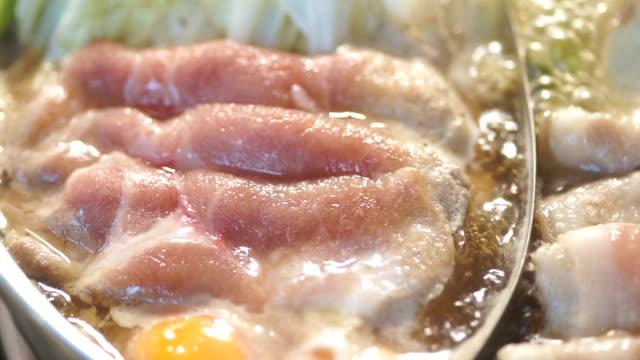 shabu shabu - sukiyaki stock videos and b-roll footage