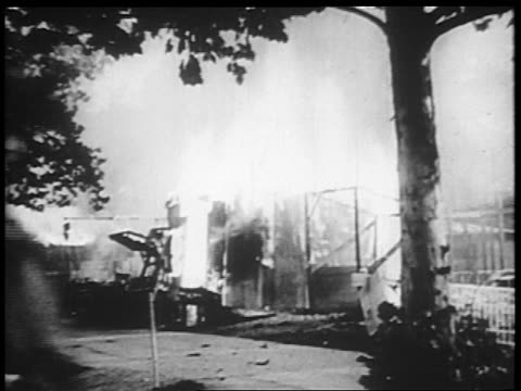 b/w 1932 shack on fire / close up soldier riding horse in foreground / bonus march / washington dc - 1932 stock videos and b-roll footage