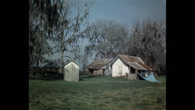 shacks on grassy landscape, usa - missouri stock videos & royalty-free footage