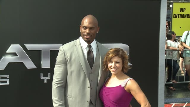 Shad Gaspard and Jessica Yarmey at the Premiere Of Paramount Pictures' Terminator Genisys at Dolby Theatre on June 28 2015 in Hollywood California