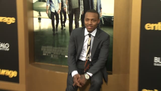 """shad gregory moss, bow wow at """"entourage"""" los angeles premiere at regency village theatre on june 01, 2015 in westwood, california. - regency village theater stock videos & royalty-free footage"""