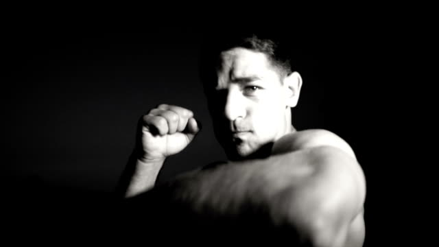 shadow boxing - mixed martial arts stock videos and b-roll footage