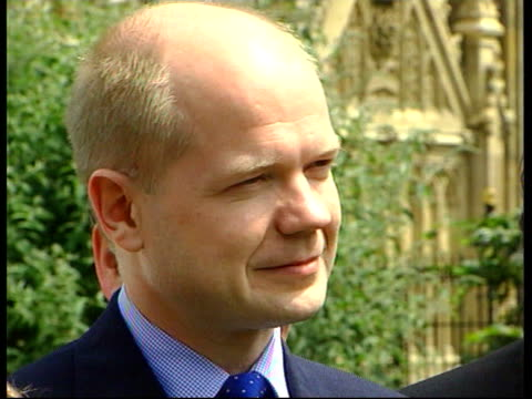stockvideo's en b-roll-footage met london william hague mp posing with young supporters pull cms hague cms trophy held tilt up as hague comments sot 'this is the new shadow cabinet by... - william hague