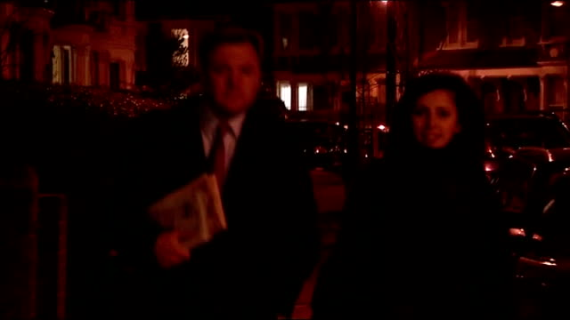 shadow chancellor alan johnson resigns london ed balls mp along suburban street with female assistant and speaking to press sot first thing i would... - alan johnson stock videos & royalty-free footage