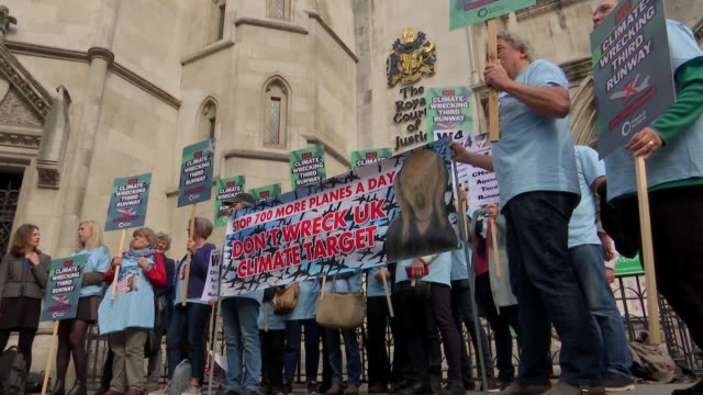 Shadow Chancellor expects more protests at Heathrow despite protestors losing High Court challenge over third runway ENGLAND London The Royal Courts...