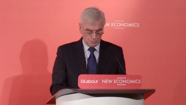 Shadow Chancellor John McDonnell addresses a Labour conference about alternative methods of ownership In it he advocates taking water companies rail...