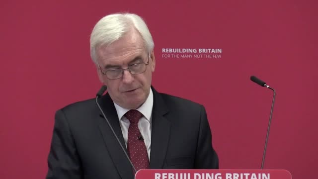 shadow chancellor john mcdonnell calls boris johnson's behaviour regarding brexit dangerously reckless and also discusses plans to enter talks with... - climate finance stock videos & royalty-free footage