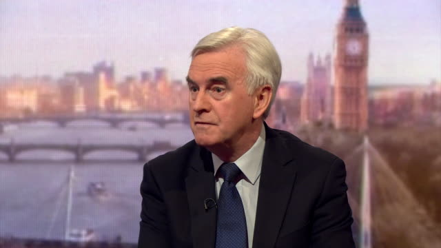 Shadow Chancellor John McDonnell talking about the need for an industrial strategy and the financial repercussions if Tata steel closes its UK plants