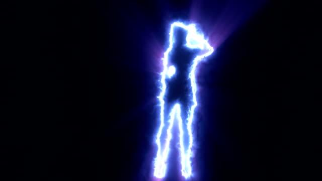 Shadow dancing sexy meisje blauw