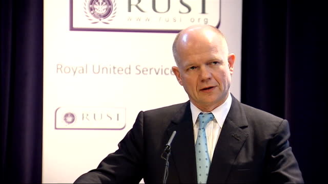 Shadow Foreign Secretary William Hague speech on foreign policy William Hague speech continues SOT Yet we must not conclude from these trends that we...