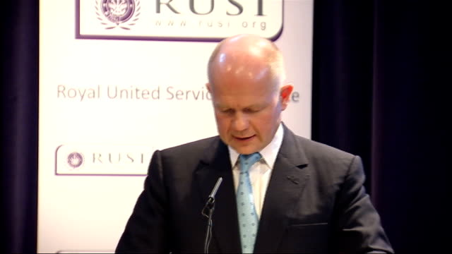 shadow foreign secretary william hague speech on foreign policy; william hague speech continues sot - turning briefly to other international treaties... - new age stock videos & royalty-free footage
