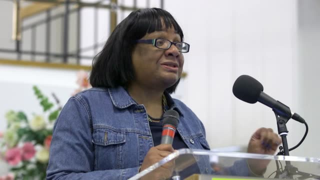 shadow home secretary diane abbott tells the no pasaran conference that jeremy corbyn has consistently fought against antisemitism and racism - diane abbott stock videos & royalty-free footage
