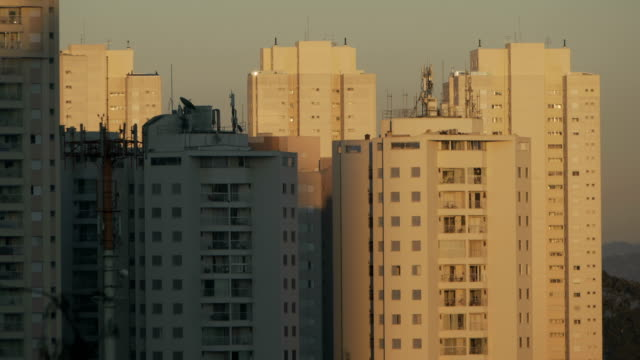 Shadow of the sun in the buildings