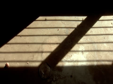 ms shadow of window bars on wall of abandoned mayor building / taba, gitarama, rwanda - security screen stock videos & royalty-free footage