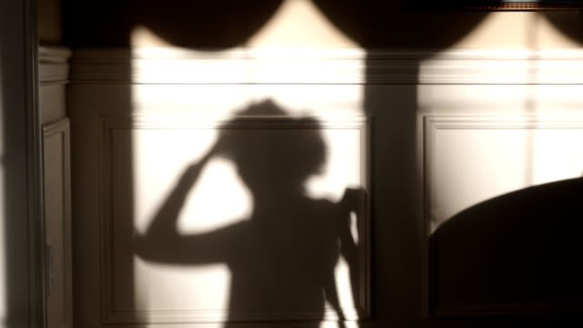 Shadow of Woman on Phone