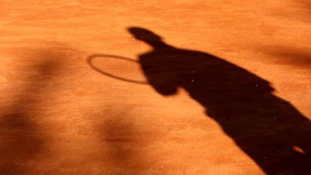 shadow tennis - tennis stock videos & royalty-free footage