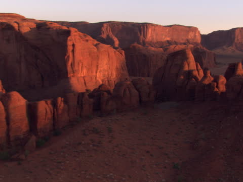 shadowed mesas at sunset - artbeats stock videos & royalty-free footage