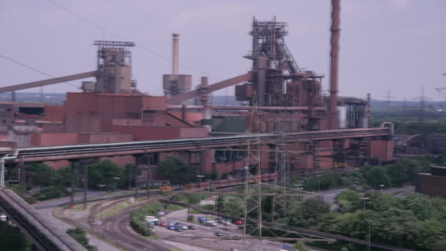 shadows move over a steelworks in germany. - ruhr stock videos & royalty-free footage