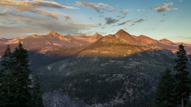 shadows moving across yosemite - time lapse - californian sierra nevada stock videos and b-roll footage