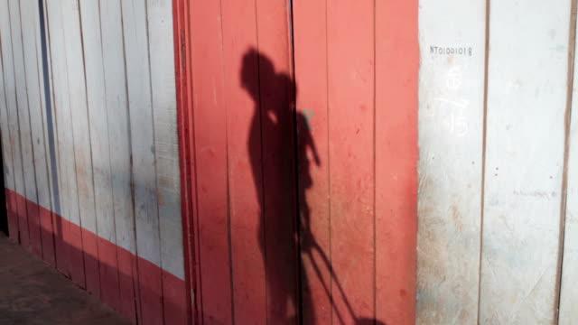 shadows on a wall - rickshaw stock videos & royalty-free footage