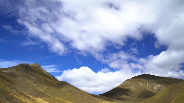 shadows on southern alps mountain range new zealand - new zealand southern alps stock videos & royalty-free footage