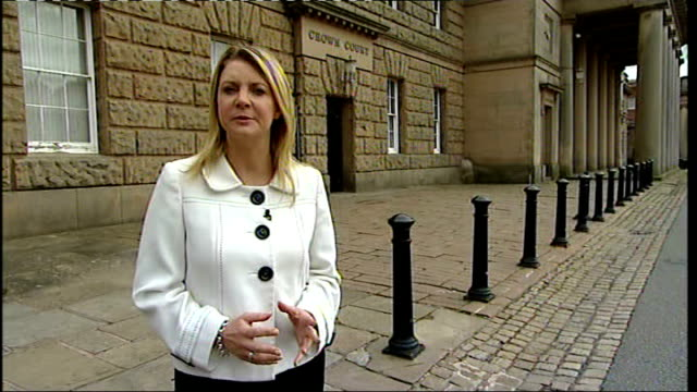 mother gives evidence england cheshire chester chester crown court reporter to camera - chester england stock videos and b-roll footage