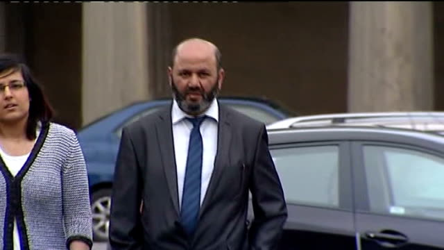 father accused of writing a script for family to follow england cheshire chester chester crown court ext iftikhar ahmed along to court with legal... - chester england stock videos and b-roll footage