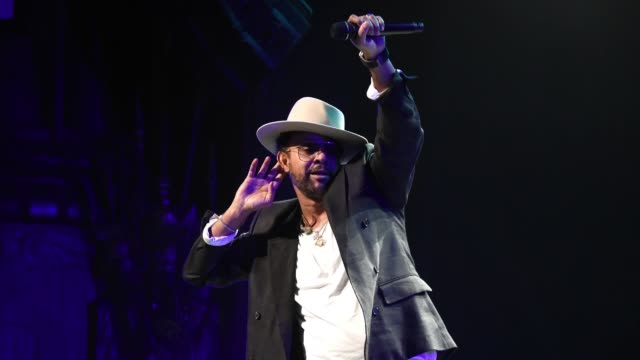 shaggy performs onstage during the rainforest fund 30th anniversary benefit concert presents 'we'll be together again' at beacon theatre on december... - 歌手 シャギー点の映像素材/bロール