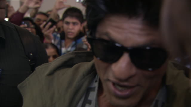 shah rukh khan on being the biggest movie star in the world - bollywood stock videos and b-roll footage