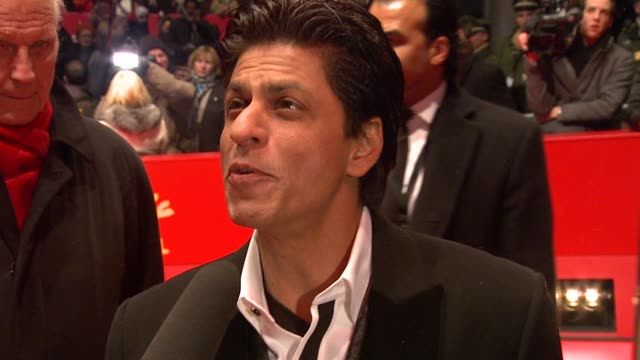 Shah Rukh Khan on his impression of Berlin and how he loves everyone at the My Name Is Khan Premiere 60th Berlin Film Festival at Berlin