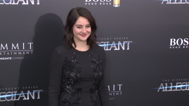 shailene woodley at allegiant new york premiere at amc loews lincoln square 13 theater on march 14 2016 in new york city - amc loews stock videos and b-roll footage